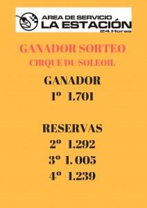 GANADOR SORTEO